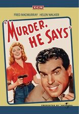Murder, He Says 1945 (DVD) Fred MacMurray, Helen Walker, Marjorie Main - New
