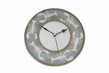 HAND THROWN POTTERY - WALL CLOCK BY TREGEAR POTTERY - LOBSTERS