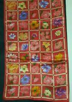 Vintage 1980's Geometric Floral Silk Echo Scarf (43 x 10)