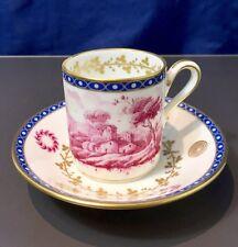 Richard Ginori Paesaggi Porpora Oro Coffee cup & saucer -1770 / 673 - NEW