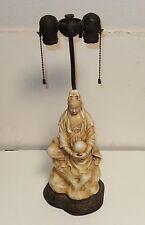 OLD BRONZE ART CRAFT CO. CELADON GLAZED PORCELAIN CHINESE GEISHA GIRL LAMP