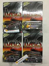 4 Car Set * Johnny Lightning FLAMES Series * Hobby Only