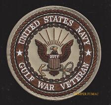 GULF WAR US NAVY VETERAN HAT PATCH SEAL EAGLE LOGO VET PIN UP USS USN GIFT