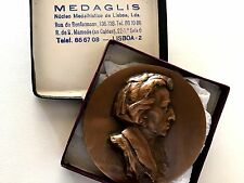 MUSIC CHOPIN / POLISH COMPOSER / FRENCH BRONZE MEDAL BY ROBERT COUTIM 68 mm N142