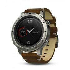 Garmin Fenix Chronos Gps - Stainless Steel Watch With Vintage Leather Band