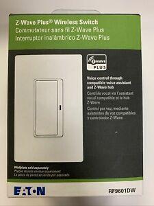 *LOT OF 4** EATON RF9601DW Z-Wave Plus Wireless Switch, White Voice control  New
