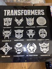 Transformers Faction Symbols Metal Sign