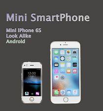 Mini Smartphone Unlocked 6S - Tiny iPhone Look Alike World's Smallest 6S Android