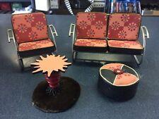 American Girl AG Minis Illuma Room NY Loft Set Metal Chair Couch Table Ottoman