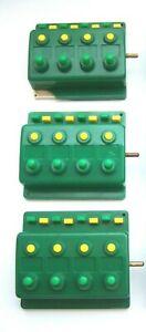 3 x Trix 66596 Weichenschalter Drucktastenschalter Grün 4-fach (1)