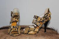 Zara High Heels Pumps Gr. 39, US 8, UK 6 schwarz-gelb, wie neu, versandk.-frei
