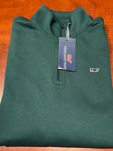 NWT VINEYARD VINES Boys 1/4 Zip Long Sleeve Charleston Green Size L (16)