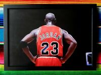 ✺Framed✺ MICHAEL JORDAN Chicago Bulls NBA Basketball Poster - 45cm x 32cm x 3cm