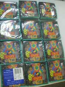 Happy New Year Paper Dinner and Beverage Napkins (Lot of 36)  12 Packages  WOW