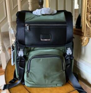 TUMI Alpha Bravo Lark Brief Laptop Backpack Ballistic Nylon $495 NWT