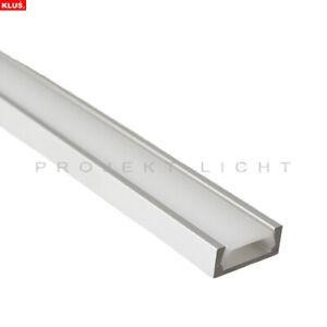 LED Aluprofil Aluminium Profil 2 Meter incl Endstücke incl.opaler Abdeckung