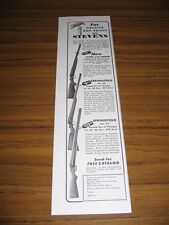 1940 Print Ad Stevens Over-Under & Springfield Shotguns Savage Arms