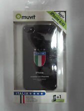 MUVIT MUCITA0001 COVER POSTERIORE COMPATIBILE IPHONE 4/4S SCUDETTO ITALIA NERO