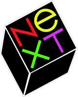 NEXT COMPUTERS COLOR LOGO VINTAGE - SET OF 2