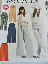 McCall's M6514 Pants - 3 Lengths & 2 Widths Sz 6-14 Uncut Sewing Pattern