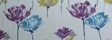 Harlequin Curtain Fabric Design Pennello 45 cm Damson/Lime/Denim Embroidered