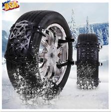 6×Black Car SUV Tire Anti-Skid Anti-Snow Chains Mud Road Emergency Thickening US