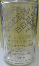 Antique 1882 Queen Bess Hand Painted Ornate Apothecary Drug Store Glass Perfumer