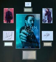 JOHN WICK Keanu Reeves film hand signed mounted frame