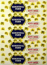 Vintage bread wrapper SUNNYHILL FARM buggies pictured Oakland California unused