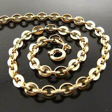 """Necklace Pendant Chain Real 18k Yellow G/F Gold Solid Antique Link Design 20"""""""