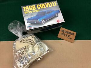 Lindberg 1/25 scale model kit 1966 Chevelle SS Pro Street kitbash w/extra parts
