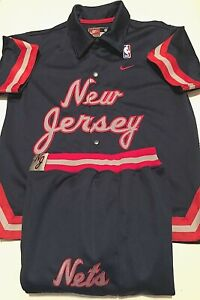 1977 New Jersey Nets NBA Vintage BOYS Blue Shooting Warm-Up Pants Set S 8/10