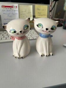 Vintage Holt Howard Cozy Kitten Salt & Pepper Shakers- so cute!