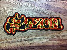 Saxon Sew On Patch Iron Embroidered Rock Band Music Heavy Metal Logo New