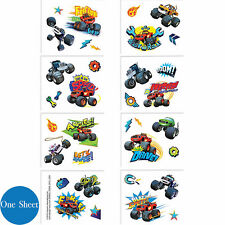 Blaze And The Monster Machines Party Supplies TATTOOS SHEET ( 8 Sections )