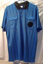 Soccer Referee Short Sleeve Blue Jersey Mens Sz L High Five Ref Shirt