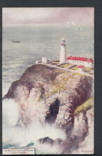 Wales Postcard - The South Stack Lighthouse, Holyhead - Artist Jotter    RS7319