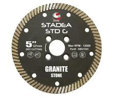 "Stadea Diamond Saw Blade 5"" Continuous Turbo Hard Stone Dry Cut-8 MM Segments"