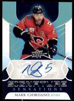 2020-21 UD Series 1 Signature Sensations #SS-GI Mark Giordano - Calgary Flames