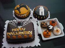 4 Halloween Cakes Donuts Dollhouse Miniatures Food Deco Holiday Season -9