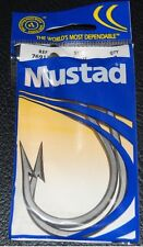 2 Mustad Big Game 7691Z Size 12/0 Stainless Steel Southern and Tuna Hooks