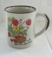 Wild Strawberry Vintage Stoneware Otagiri? Style Coffee Tea Mug