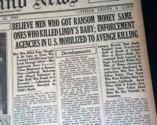 5 LINDBERGH BABY KIDNAPPING Charles Jr. Crime of the Century 1932-35 Newspapers