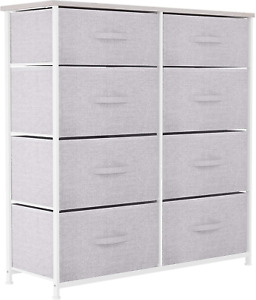 YITAHOME Chest of Drawers, Non-Woven Fabric 8-Drawer Storage Organizer Unit for