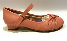 Jelly Beans Little Girls ACO Mary Jane Flat Shoes Blush Leather Size 13 M