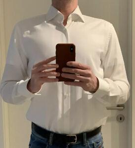 HUGO BOSS Slimfit Hemd weiß in Größe 42