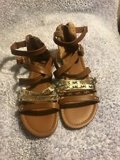 Micheal Kors Girls Sandals, Brown Size 3 Youth