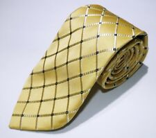 NWOT Men's Donald J Trump Signature Collection Gold Blue Checked Silk Tie