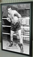 """Freddie Mills Boxing World Champion Framed Canvas Print Signed    """"Great Gift"""""""