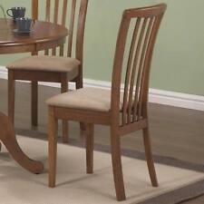 Brannan Brown Oak Slat Back Dining Chair by Coaster 101092- Set of 2